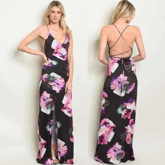 e562c2f73b NWT women s sexy summer floral maxi dress. Boutique